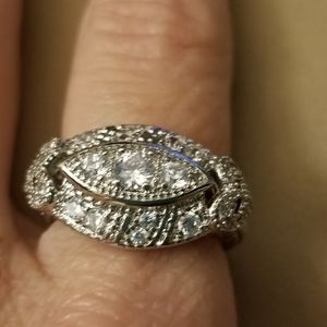 Antique Style Sterling Silver Ring